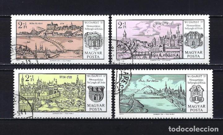 1971 HUNGRÍA MICHEL 2646/2649 YVERT 2144/2147 VISTAS DE BUDAPEST - USADOS (Sellos - Extranjero - Europa - Hungría)