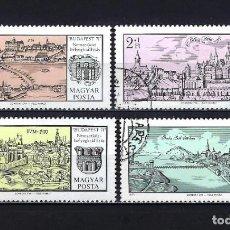 Sellos: 1971 HUNGRÍA MICHEL 2646/2649 YVERT 2144/2147 VISTAS DE BUDAPEST - USADOS. Lote 228382435