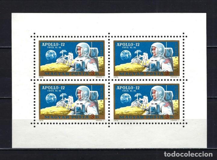 1970 HUNGRÍA MICHEL HB 2576 YVERT HOJITA 325 CORREO AÉREO ESPACIO APOLO XII MNG* NUEVO SIN GOMA SIN (Sellos - Extranjero - Europa - Hungría)