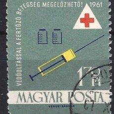 Timbres: HUNGRÍA 1961 - SERVICIO DE SALUD, SERVICIO MÉDICO - USADO. Lote 230002580