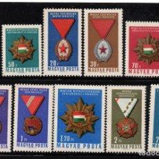 Sellos: HUNGRÍA 1815/23** - AÑO 1966 - CONDECORACIONES NACIONALES. Lote 234523845