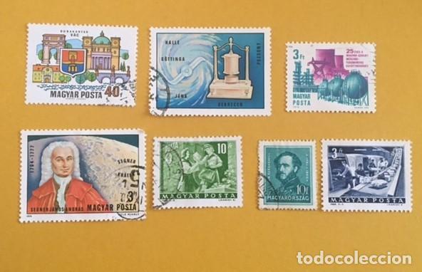 7 SELLOS HUNGRIA, USADOS AÑOS 1942, 1964 Y 1974. (Sellos - Extranjero - Europa - Hungría)
