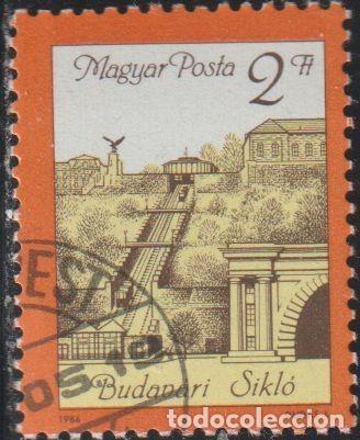 HUNGRIA 1986 SCOTT 2986 SELLO * REAPERTURA DEL FUNICULAR DEL CASTILLO DE BUDA MICHEL 3821A YV. 3037 (Sellos - Extranjero - Europa - Hungría)
