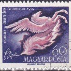 Sellos: 1959 - HUNGRIA - CONMEMORACION DE SCHILLER - YVERT 1312. Lote 235996485