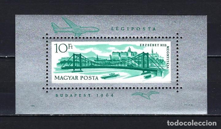 1964 HUNGRÍA MICHEL HB 45 YVERT HOJA BLOQUE 51 PUENTEELISABETH RECONSTRUIDO MNH** NUEVOS SIN FIJASEL (Sellos - Extranjero - Europa - Hungría)