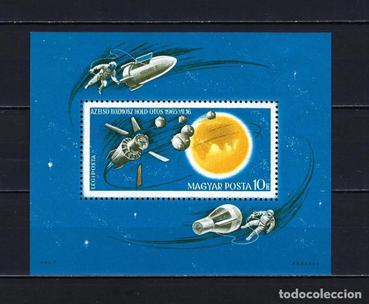 1965 HUNGRÍA MICHEL HB 52 YVERT HOJA BLOQUE 58 EXPLORACIÓN DEL ESPACIO MNH** NUEVO SIN FIJASELLOS (Sellos - Extranjero - Europa - Hungría)