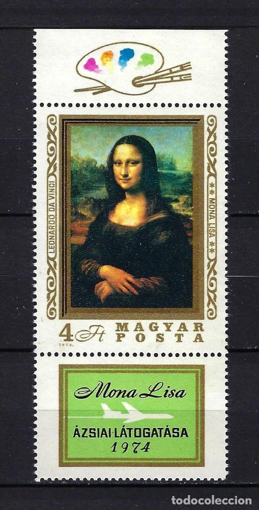 1974 HUNGRÍA MICHEL 2940 YVERT 2364 MONA LISA EN ASIA MNH** NUEVO SIN FIJASELLOS (Sellos - Extranjero - Europa - Hungría)
