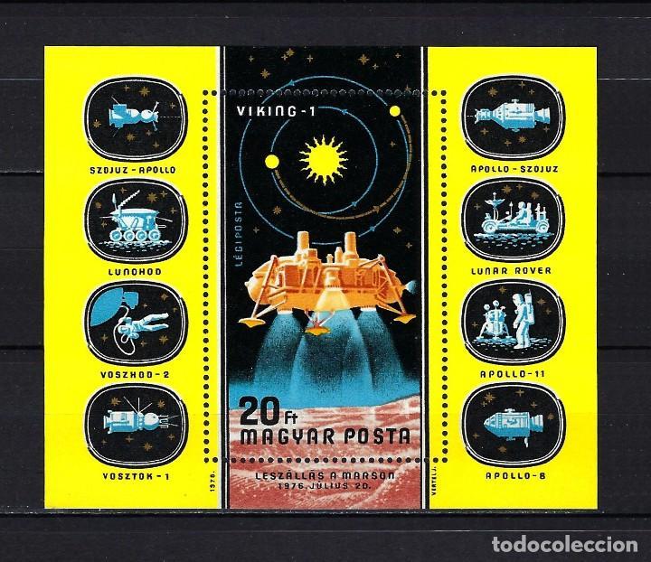 1976 HUNGRÍA MICHEL HB 121 YVERT HOJA BLOQUE 127 ESPACIO MARTE VIKING 1 MNH** NUEVO SIN FIJASELLOS (Sellos - Extranjero - Europa - Hungría)