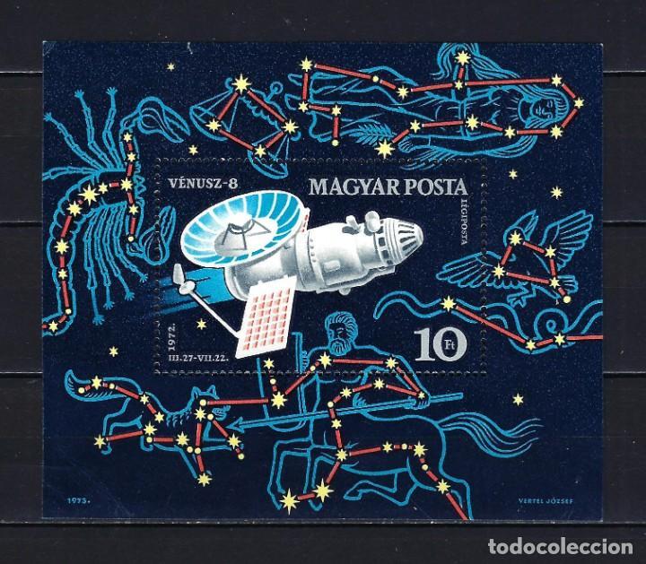 1973 HUNGRÍA MICHEL HB 95 YVERT HOJA BLOQUE 101 ESPACIO EXTERIOR NAVE VENUS 8 MNH** NUEVO SIN FIJASE (Sellos - Extranjero - Europa - Hungría)
