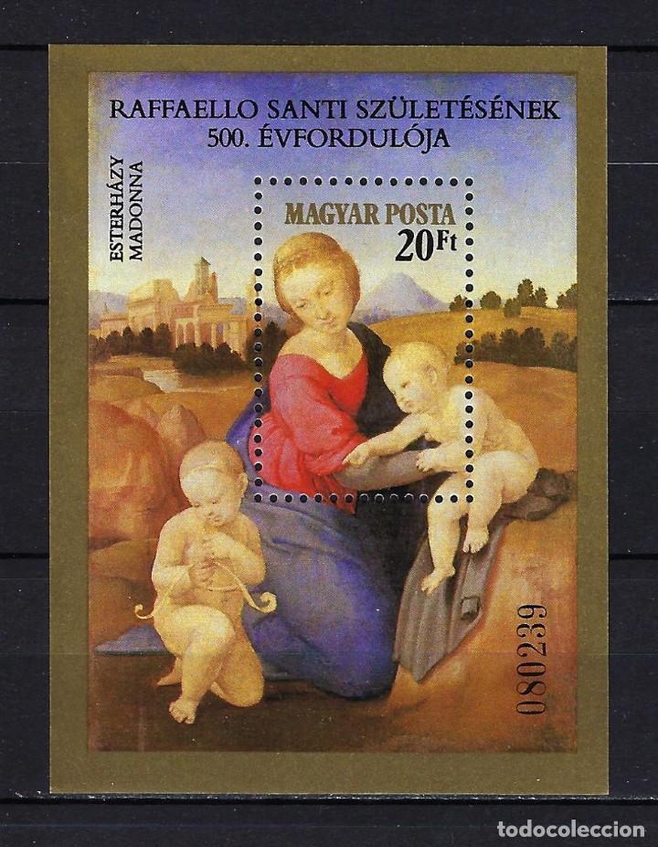 1983 HUNGRÍA MICHEL HB 164 YVERT HOJA BLOQUE 167 ARTE, PINTURA DE RAPHAEL MNH** NUEVO (Sellos - Extranjero - Europa - Hungría)