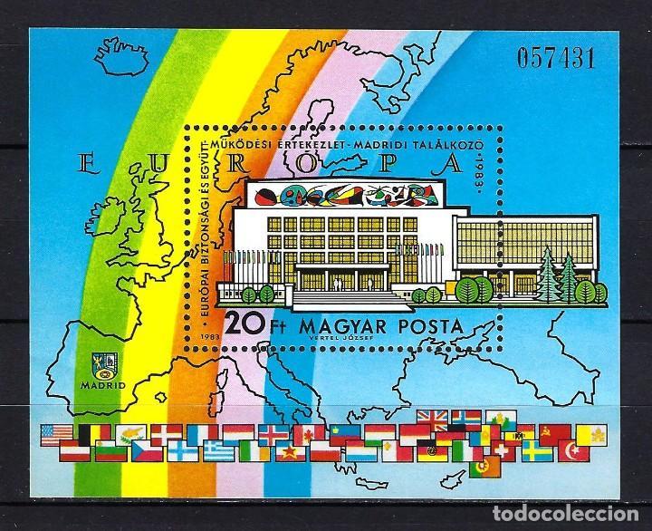 1983 HUNGRÍA MICHEL HB 168 YVERT HOJA BLOQUE 171 CONFERENCIA SEGURIDAD Y COOP. MNH** NUEVO (Sellos - Extranjero - Europa - Hungría)
