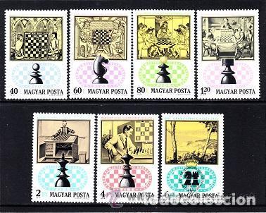 HUNGRIA 1974 IVERT 2371/7 *** 21º JUEGOS OLÍMPICOS DE AJEDREZ - DEPORTES (Sellos - Extranjero - Europa - Hungría)