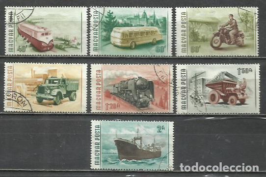 2565A- SERIE COMPLETA HUNGRIA MAGYAR POSTA TRANSPORTES 1955 Nº 1183/9. (Sellos - Extranjero - Europa - Hungría)