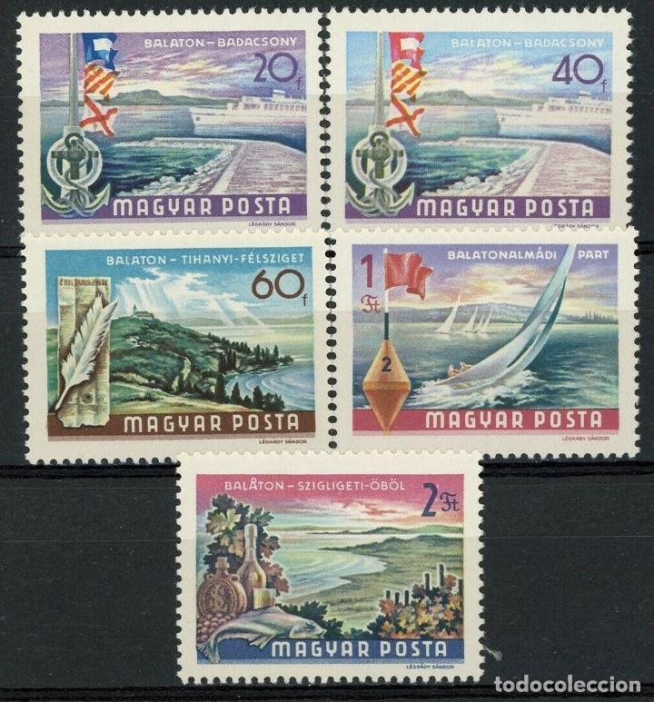 HUNGRIA 1968 IVERT 1987/91 *** SERIE BÁSICA - PAISAJES DEL LAGO BALATON - NATURALEZA (Sellos - Extranjero - Europa - Hungría)
