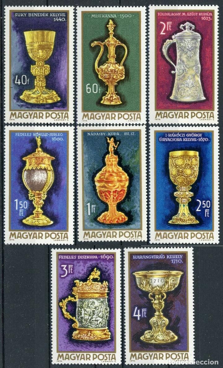 HUNGRIA 1970 IVERT 2128/35 *** ORFEBRERÍA HUNGARA (Sellos - Extranjero - Europa - Hungría)