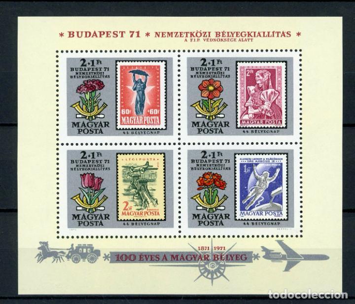 HUNGRIA 1971 HB IVERT 88 *** CENTENARIO DEL SELLO HUNGARO (Sellos - Extranjero - Europa - Hungría)