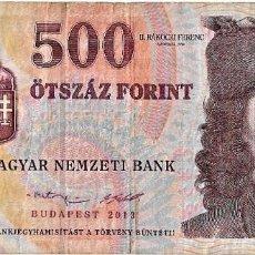 Sellos: HUNGRIA - 500 FORINT BUDAPEST 2013 - SERIE A 8199196 - 154X70 MM - PICK 196E - VF. Lote 254799485