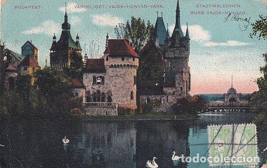 Sellos: Franqueo curioso, marca correos, sobre tarjeta postal Budapest. Hungria. - Foto 2 - 257627710