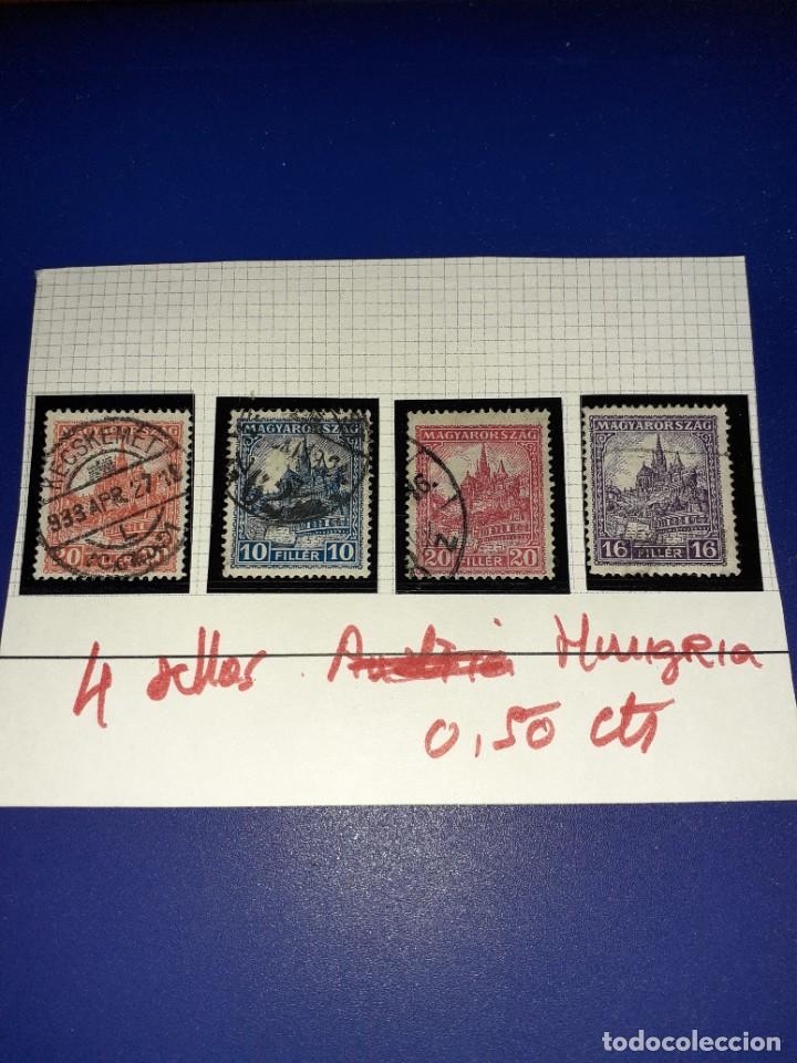 LOTE DE 4 SELLOS HUNGRIA MISMA SERIE. CIRCULADOS. NINGÚN REPETIDO (Sellos - Extranjero - Europa - Hungría)
