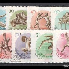 Sellos: HUNGRIA SERIE DEPORTES 1956 1532/1539 EN USADO.. Lote 263068725