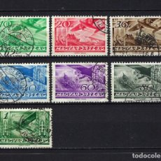 Sellos: 1936 HUNGRÍA YVERT 35/42 CORREO AÉREO, AVIACIÓN, AVIONES USADOS. Lote 264163944
