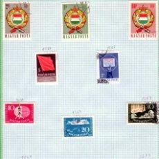 Sellos: EUROPA. HUNGRIA. HOJA DE SELLOS 4. SERIES COMPLETAS. USADOS. Lote 267814394