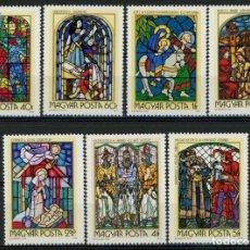 Sellos: HUNGRIA 1972 IVERT 2275/81 *** VIDRIERAS - PINTURAS Y ESCULTURAS RELIGIOSAS. Lote 269681228