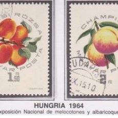 Sellos: LOTE DE SELLOS DE HUNGRIA 1964 - FRUTOS - ARBOLES - FLORA - AHORRA EN EL ENVIO Y COMPRA MAS. Lote 281995903
