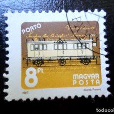 Sellos: *HUNGRIA, 1987, SERVICIO POSTAL A TRAVES DEL TIEMPO, SELLO DE TASA YVERT 248. Lote 287143808