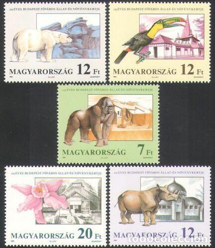 HUNGRÍA 1991 IVERT 3317/21 *** FAUNA Y FLORA - 125º ANIVERSARIO DEL JARDÍN ZOOLÓGICO Y BOTÁNICO (Sellos - Extranjero - Europa - Hungría)