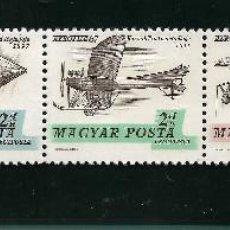 Sellos: HUNGRIA 1967, SERIE CORREO AÉREO 292/5 AVIACIÓN MNH.. Lote 288871738