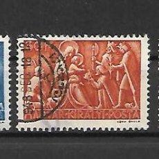 Sellos: SELLOS DE NAVIDAD DE HUNGRÍA. AÑO 1943. Lote 295421048