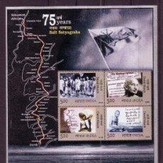 Sellos: INDIA HB 31** - AÑO 2005 - 75º ANIVERSARIO DE LA MARCHA DE LA JUSTICIA DE GANDHI. Lote 22674242