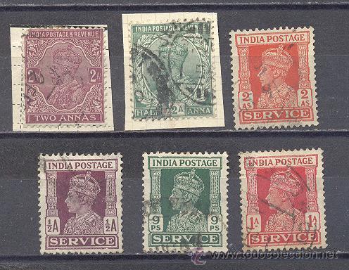INDIA, ANTIGUOS SELLOS USADOS (Sellos - Extranjero - Asia - India)