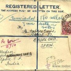 Sellos: SOBRE CERTIFICADO CON 2 SELLOS Y MATASELLOS - 3 OCTUBRE DE 1949. Lote 65031231