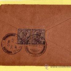 Sellos: INDIA COLONIA INGLESA, SOBRE CIRCULADO CON 2 SELLOS DE JORGE V (GEORGE V) MATASELLOS 1930. Lote 31231000