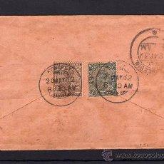 Sellos: INDIA COLONIA INGLESA, SOBRE CIRCULADO SELLOS DE JORGE V, Nº 78 79, MATASELLOS SALIDA Y LLEGADA 1932. Lote 31279907