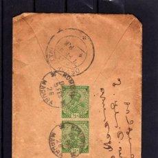 Sellos: INDIA COLONIA INGLESA, CARTA COMPLETA CIRCULADA AÑO 1926, SELLOS DE JORGE V. Lote 31281885