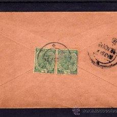 Sellos: INDIA COLONIA INGLESA, SOBRE CIRCULADO CON 2 SELLOS DE JORGE V (GEORGE V) MATASELLOS KARAIKUDI 1934. Lote 31626408