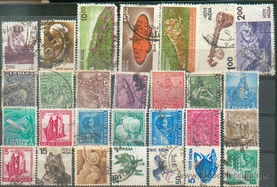 28 SELLOS DIFERENTES (Sellos - Extranjero - Asia - India)