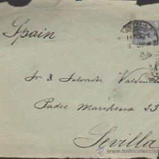 Sellos: FRONTAL DE CARTA DE CALCUTA A SEVILLA DEL 14 FEBRERO DE 1927.. Lote 36718171
