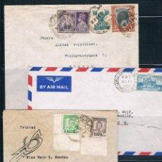 Sellos: INDIA E IRAQ. 3 SOBRES CIRCULADOS. Lote 42102811