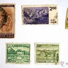 Sellos: SELLO - OCHO SELLOS DE INDIA, PAKISTAN, MALASIA, BANGLADESH.. Lote 45567077
