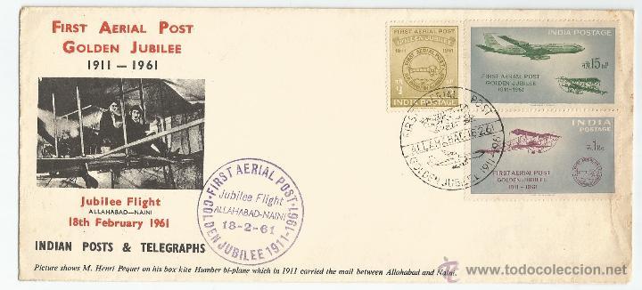 1961 - PRIMER DÍA DE CIRCULACIÓN - INDIA (Sellos - Extranjero - Asia - India)