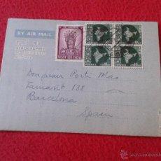 Sellos: CARTA AEROGRAMA DEL PADRE MISIONERO IGNACIO RUBIO DESDE INDIA VICARIO GENERAL DIBRUGARH ASSAM 1965 . Lote 54007174