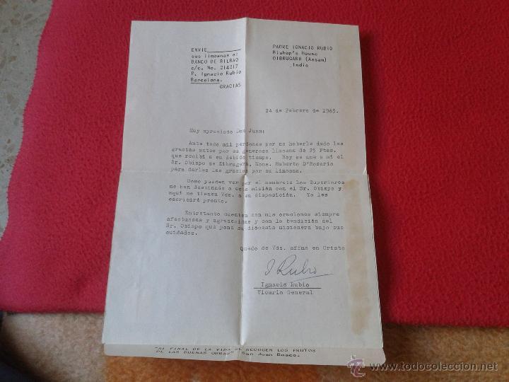 Sellos: CARTA AEROGRAMA DEL PADRE MISIONERO IGNACIO RUBIO DESDE INDIA VICARIO GENERAL DIBRUGARH ASSAM 1965 - Foto 4 - 54007174