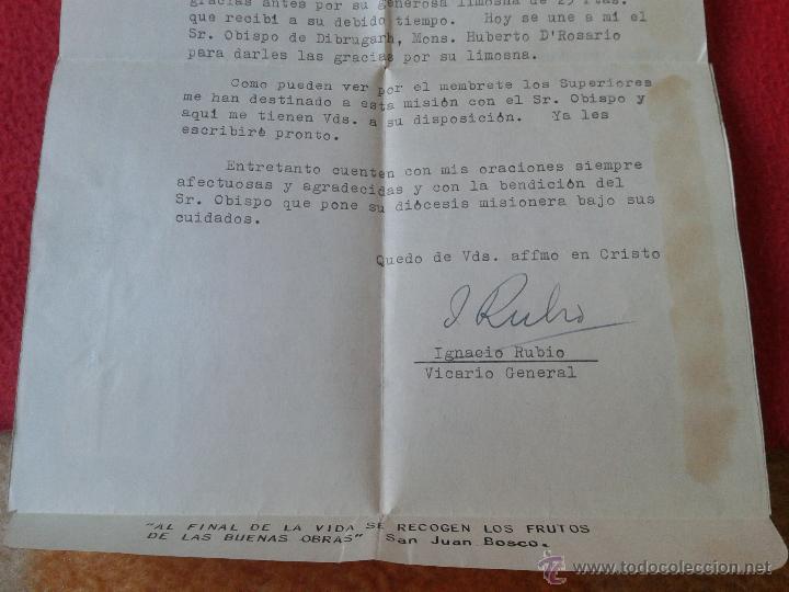 Sellos: CARTA AEROGRAMA DEL PADRE MISIONERO IGNACIO RUBIO DESDE INDIA VICARIO GENERAL DIBRUGARH ASSAM 1965 - Foto 6 - 54007174