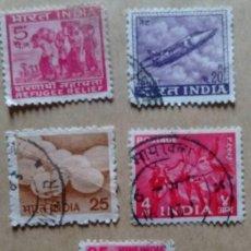 Sellos: LOTE 5 SELLOS INDIA. Lote 85966159