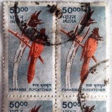 Sellos: INDIA, SELLOS EN BLOQUE DE 4 USADOS . Lote 93734995