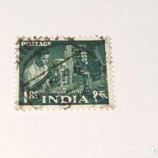 Sellos: SELLO INDIA USADO 1955. PLAN QUINQUENAL. Lote 100371227
